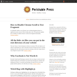 Perishable Press - Web Dev + WordPress + Security