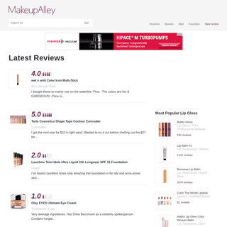 MakeupAlley - Beauty Product Reviews, Forums & Peer Advice
