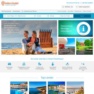 Ferienhäuser & Ferienwohnungen günstig mieten - Interchalet