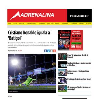 ArchiveBay.com - www.excelsior.com.mx/adrenalina/la-juventus-cumple-ante-el-colista/1365669 - Serie A- Cristiano Ronaldo iguala a 'Batigol' - Excélsior