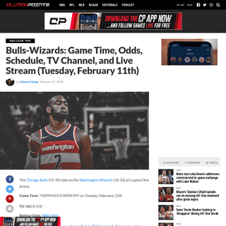 Bulls-Wizards- Game Time, Odds, Schedule, TV Channel, and Live Stream (Tuesday, February 11th)