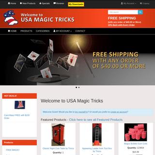 USA Magic Tricks - Buy Magic Tricks, Supplies & Products Online