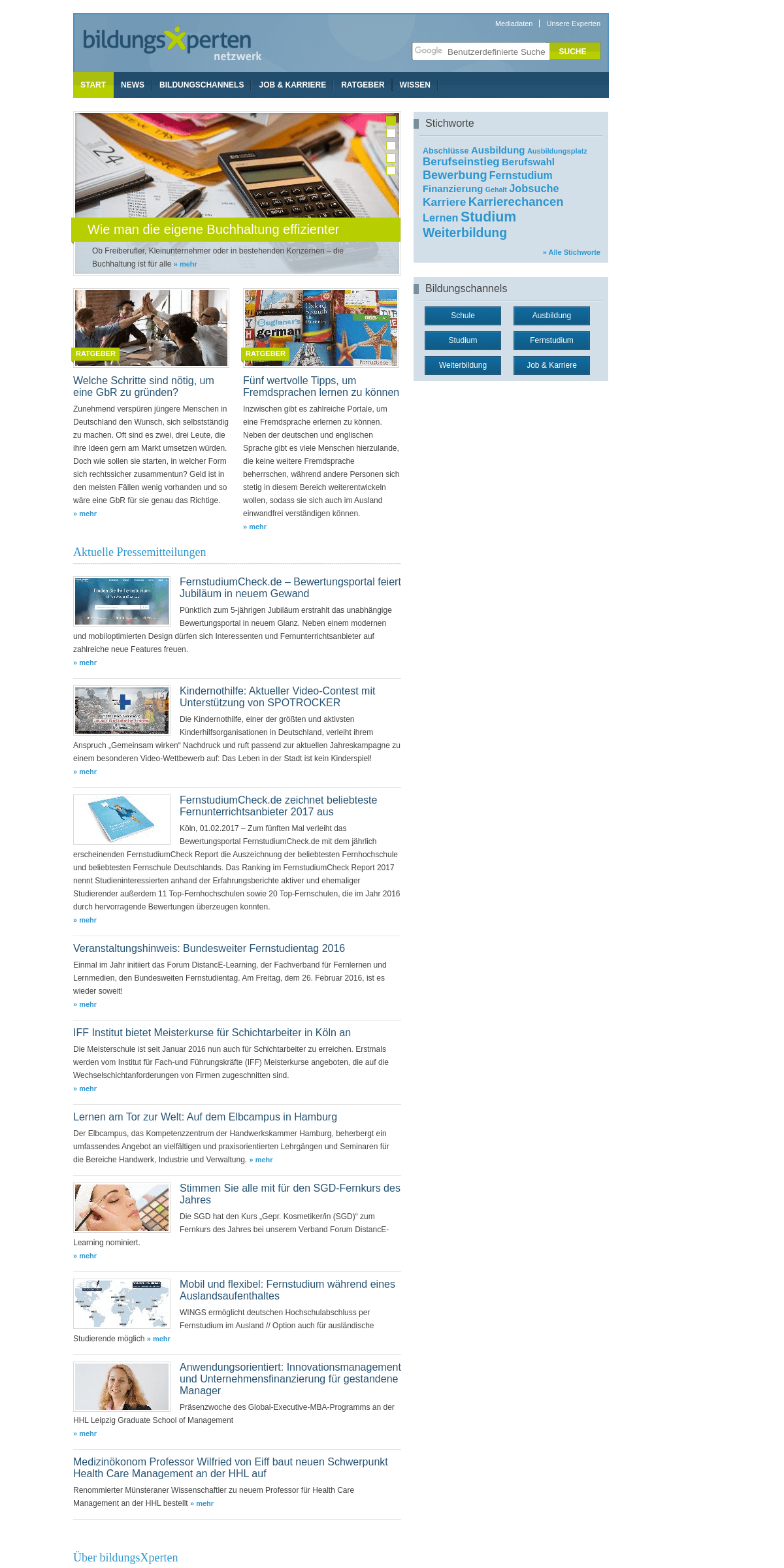bildungsXperten.net - Das Netzwerk der Bildungsexperten