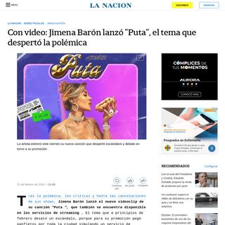 ArchiveBay.com - www.lanacion.com.ar/espectaculos/con-video-jimena-baron-lanzo-puta-tema-nid2336047 - Con video- Jimena Barón lanzó -Puta-, el tema que despertó la polémica - LA NACION