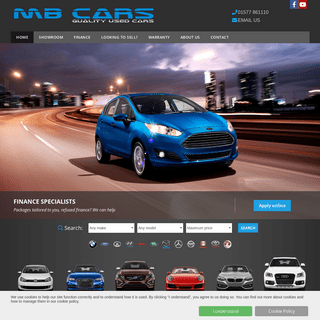 Used cars for sale in Kincross & Scotland- MB Cars