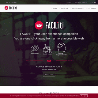 Web accessibility – WCAG – ADA – Section 508 – User Experience – Customer Experience – FACIL'iti