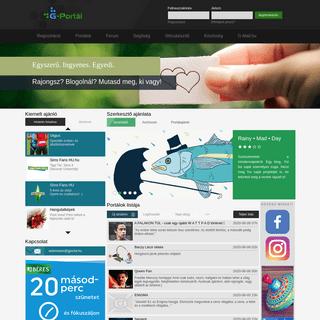 G-Portál - Ingyen weboldal, blog, portál egyszerűen és gyorsan!
