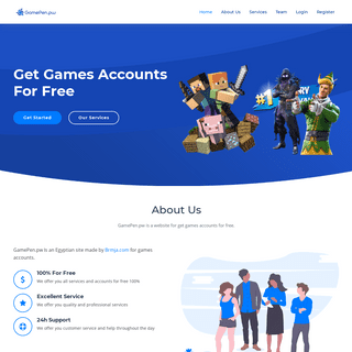 GamePen.pw - Get Games Accounts For Free