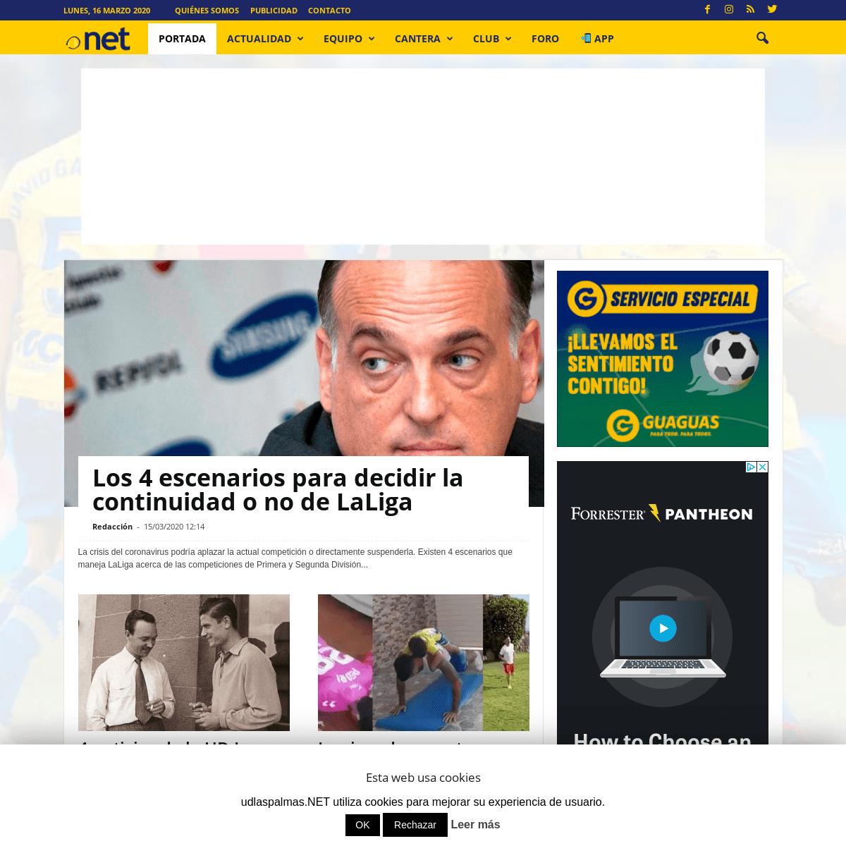 udlaspalmas.NET - UD Las Palmas, La web de la afición