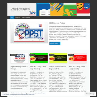 Deped Resources - Materials You Can Use And Share