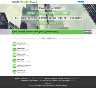 Website Traffic Estimator - Check Website Traffic with Visitors Detective!