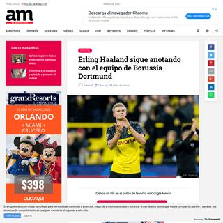 Erling Haaland sigue anotando con el equipo de Borussia Dortmund