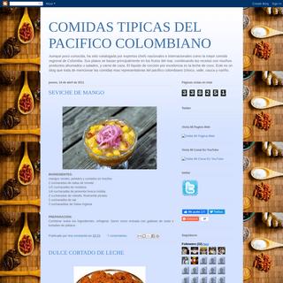 COMIDAS TIPICAS DEL PACIFICO COLOMBIANO