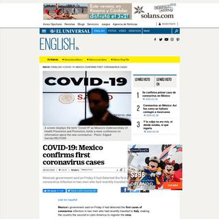 Mexico confirms first coronavirus cases