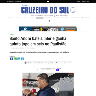 ArchiveBay.com - www.jornalcruzeiro.com.br/esporte/santo-andre-bate-a-inter-e-ganha-quinto-jogo-em-seis-no-paulistao/ - Santo André bate a Inter e ganha quinto jogo em seis no Paulistão