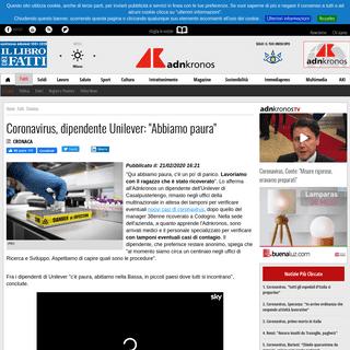 ArchiveBay.com - www.adnkronos.com/fatti/cronaca/2020/02/21/coronavirus-dipendente-unilever-abbiamo-paura_obkpYDCTbXzbIiVMLJjBTO.html - Coronavirus, dipendente Unilever- -Abbiamo paura-