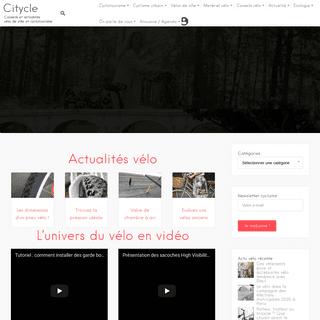 Conseils et actualités vélo ville et cyclotourisme - Citycle