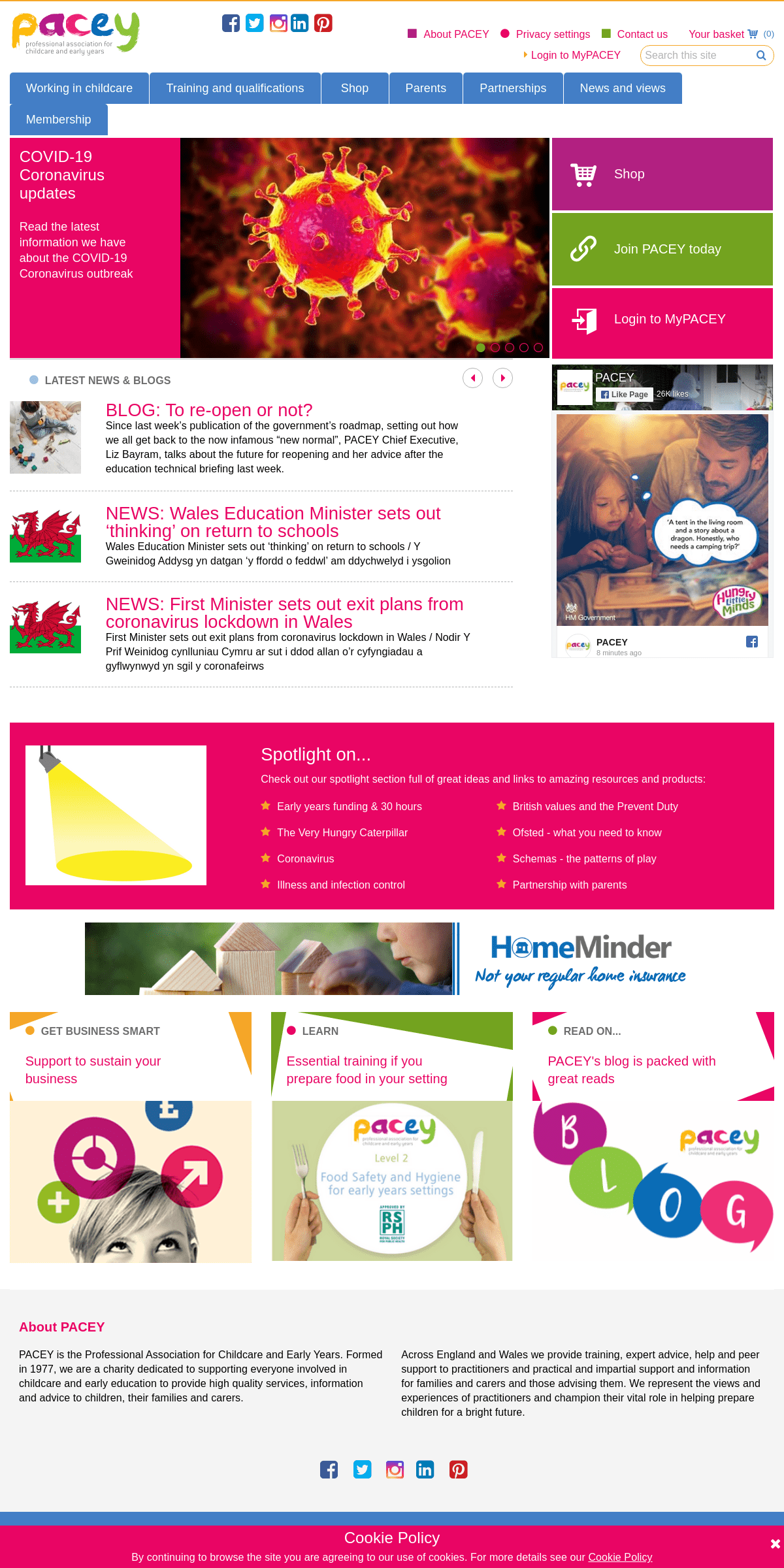 Professional Association for Childcare and Early Years - PACEY