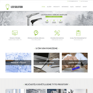 Český výrobce kvalitního LED osvětlení - LED Solution