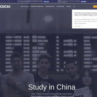 CUCAS- Study in China - Apply China's Universities Online