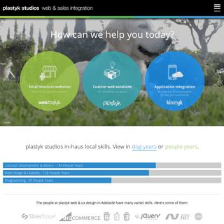plastyk studios. web & sales integration. adelaide.