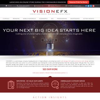 Virginia Web Design, Web Design Virginia Beach - VISIONEFX