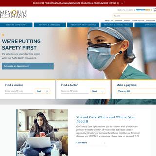 Memorial Hermann - Houston Hospitals, Institutes & Centers