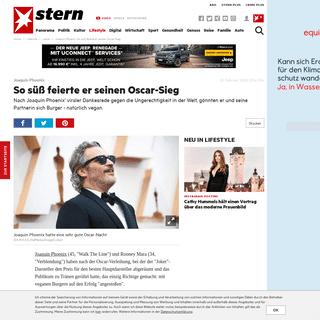 Joaquin Phoenix- So süß feierte er seinen Oscar-Sieg - STERN.de