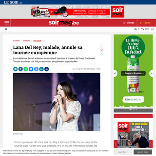 Lana Del Rey, malade, annule sa tournée européenne - Soirmag