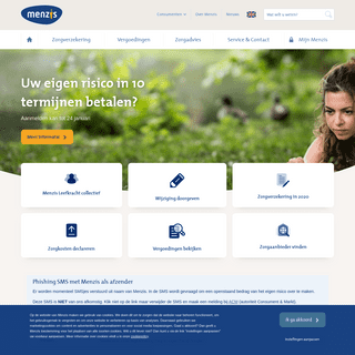 Zorgverzekeraar Menzis- voor uw zorgverzekering en reisverzekering