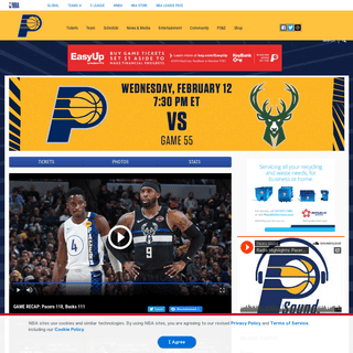 Game Rewind- Pacers 118, Bucks 111 - Indiana Pacers