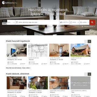 Használt és új ingatlanok, lakások, házak, telkek - Költözzbe.hu