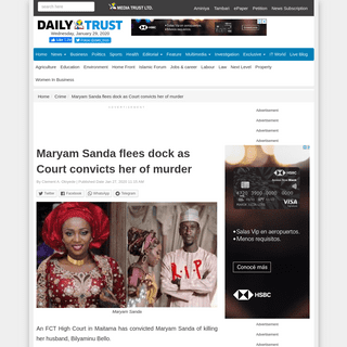 ArchiveBay.com - www.dailytrust.com.ng/breaking-maryam-sanda-flees-as-court-convicts-her-of-murder.html - Maryam Sanda flees dock as Court convicts her of murder – Daily Trust