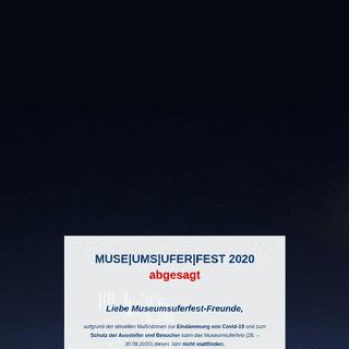 MUSE-UMS-UFER-FEST 2020 abgesagt