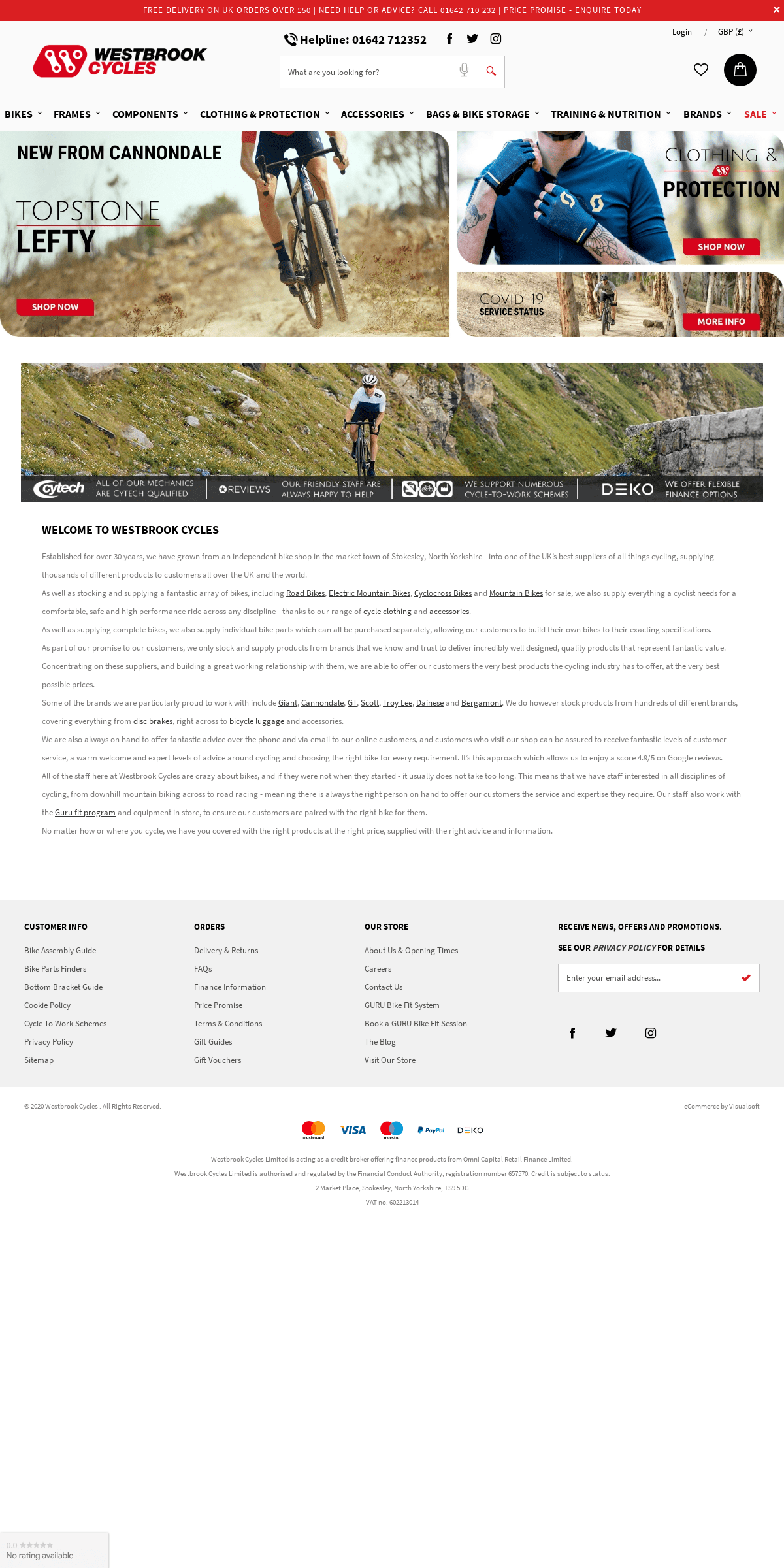 Westbrook Cycles - Bikes, Components & Clothing - Online Bike Shop UK