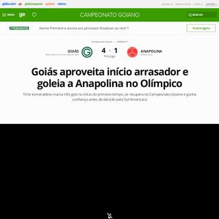 Goiás 4 x 1 Anapolina - Campeonato Goiano 2020 rodada 7 - Tempo Real - Globo Esporte