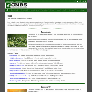 CNBS - Cannabis 101 Information, Articles, and Guides