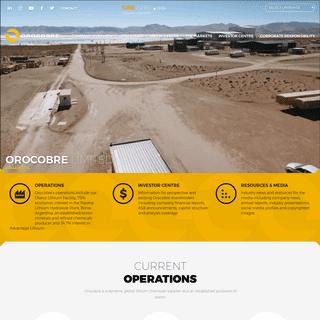 Home - Orocobre Limited