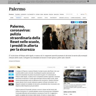 Palermo, coronavirus- pulizia straordinaria della Reset nelle scuole, i presidi in allerta per la sicurezza - la Repubblica