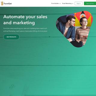 Online Form Builder & Email Marketing Software - FormGet