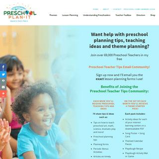 Preschool Lesson Plans, Preschool Themes & More for Preschool Teachers!