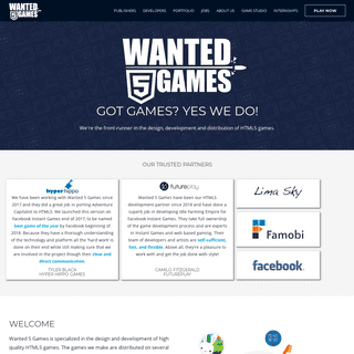 Monetization through HTML5 games by Wanted 5 Games