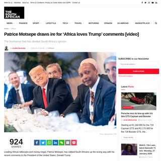 Patrice Motsepe draws ire for 'Africa loves Trump' comments [video]