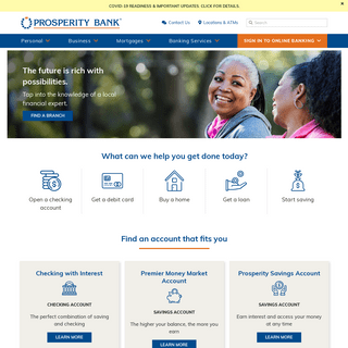 Personal Banking, Texas & Oklahoma - Prosperity Bank