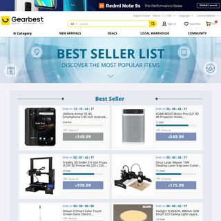 Gearbest Top Seller - Dive with the Coolest Gear