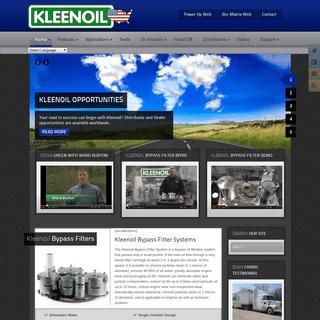 Kleenoil Bypass Oil Filter System - Bypass Oil Filtration - Home