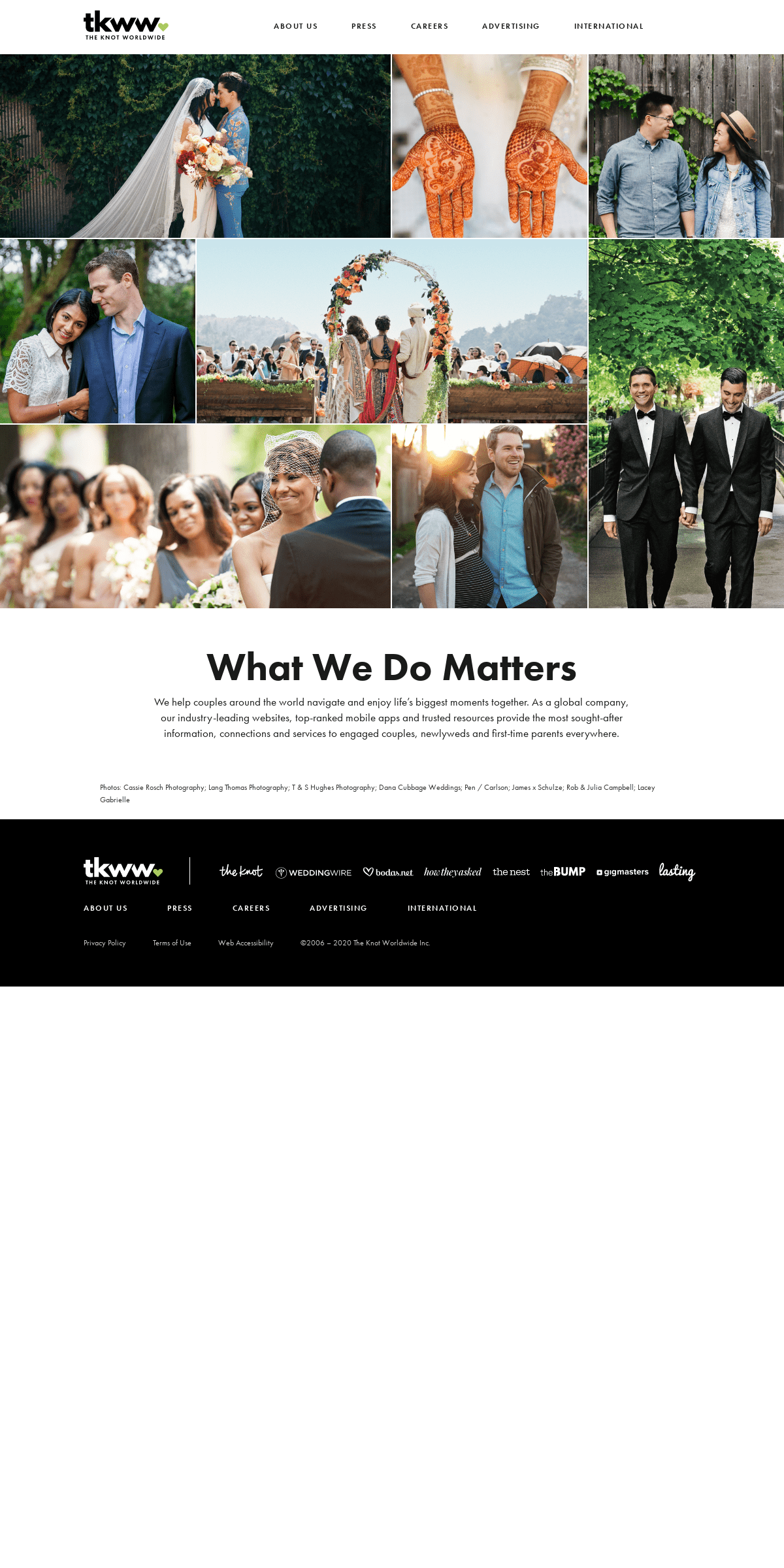 Homepage - The Knot Worldwide