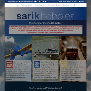 Aeroplane, Train & Boat, Models Plans & Kits. Sarik Hobbies