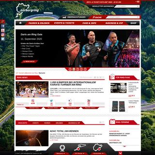 Nürburgring – Motorsport, Events, Touristenfahrten, Fahrerlebnisse, MICE & Freizeitangebote an der legendären Rennstrecke in