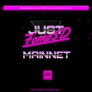 Countdown to Fomo3D Mainnet